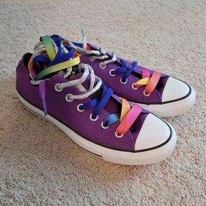Women's Purple Multi Lace Converse, New w/o tags